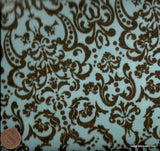 Chic Bebe blue brown ornate baroque David flannel fabric
