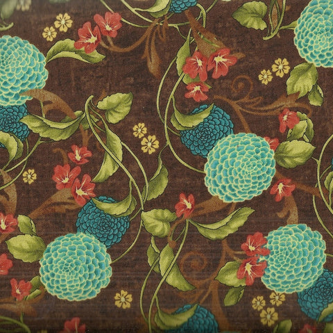 Glow 19409 floral Red Rooster fabric