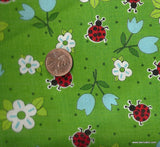 Ladybug Ladybug  flowers bugs Exclusively Quilters fabric