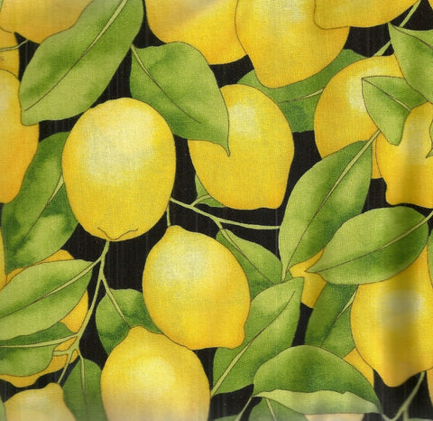 Packed Lemons fruit Timeless Treasures fabric