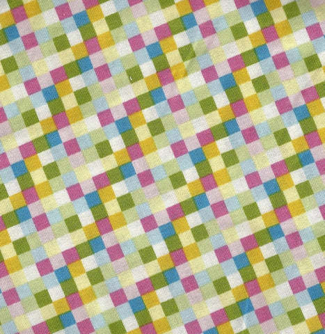 Aunt Marthas Busy Kitten 9185 pastel checks Henry Glass fabric