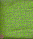 Fun frogs green flies bugs Blank fabric