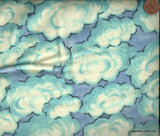Blue sky clouds Blank flannel
