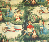 Twin Peaks Au Natural tea dyed outdoor girls pinups Alexander Henry fabric