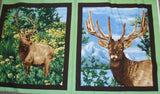 American Elk panel wildlife Exclusively Quilters fabric