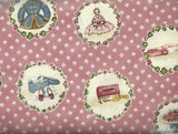 A is for Annabelle vintage clothing pink RJR fabric
