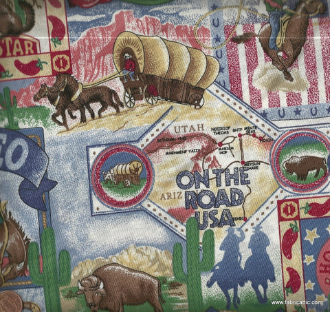 Rodeo Scenes western cowboys fabric