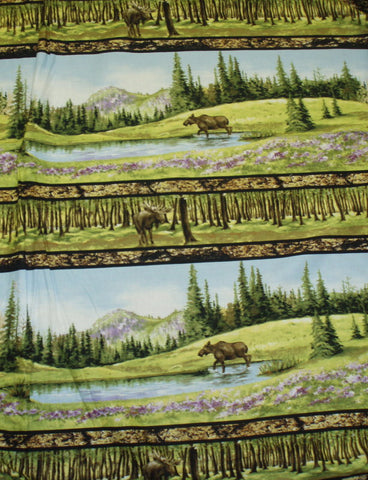 Wild in the Wilderness moose stripe Riverwoods fabric