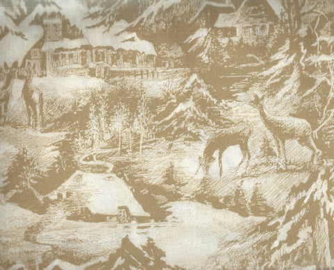 Snowy Eve antique wildlife Moda fabric