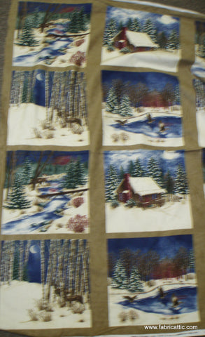 Winter Pines Panel 6440 13F Holly Taylor Moda fabric