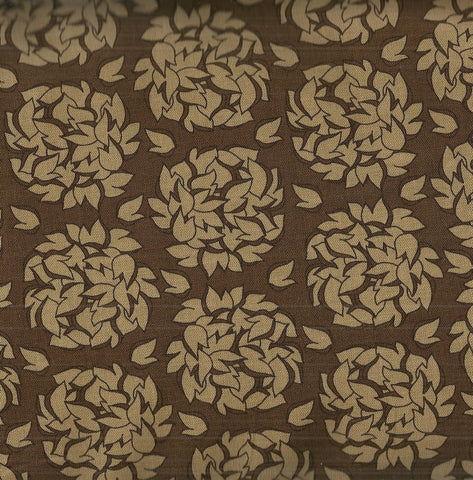 Fiona's Fancy big funky flowers brown tan Riley Blake fabric