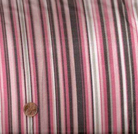 Play stripe flannel pink brown Michael Miller fabric