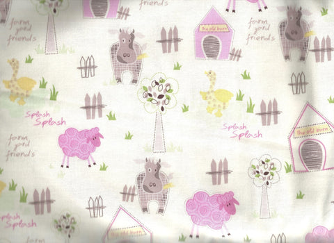 Farmyard Friends farm animals childrens studio e fabric