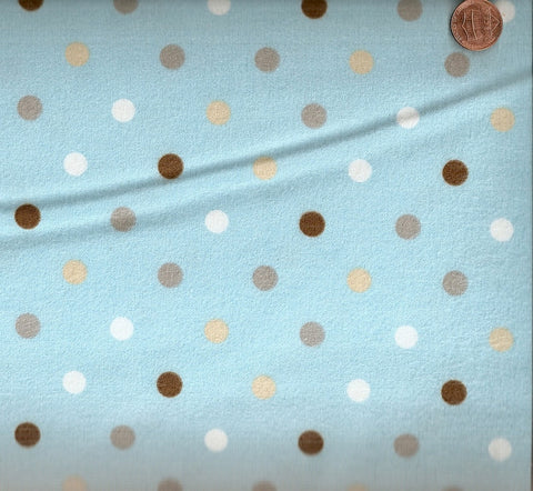 Cozy Cotton 9256-269 blue dots Kaufman flannel