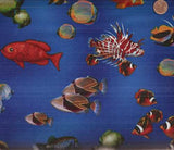Rainbow Cove  ocean fish Robert Kaufman fabric