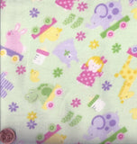 Alpine flannel F1072 green Bitty Baby