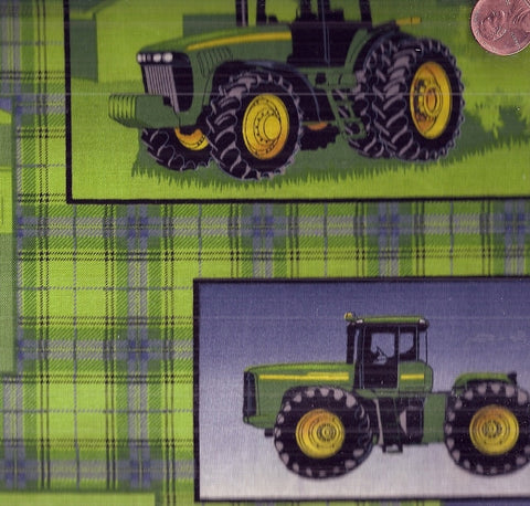 John Deer 418525 plaid patch allover