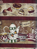 Cafe Americano stripe coffee kitchen Wilmington fabric