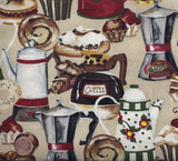 Cafe Americano coffee kitchen dessert Wilmington fabric