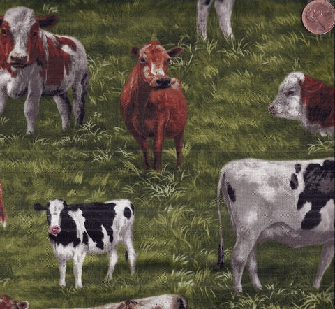 Farm Country cows Kaufman fabric