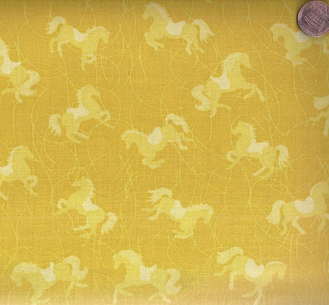 Painted Ponies tonal ponies yellow