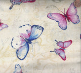 Vintage butterfly allover natural Studio E fabric