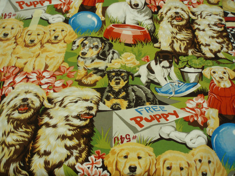 Free Puppy dogs cute Alexander Henry fabric