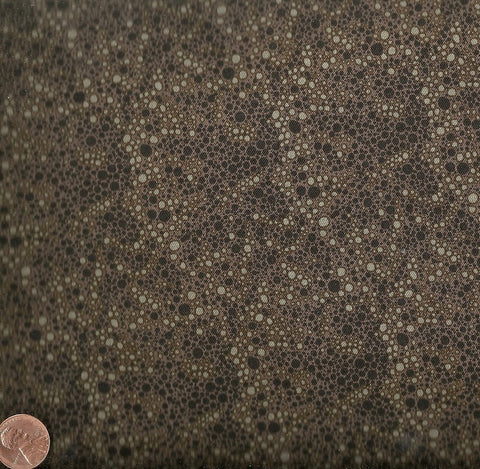 Little Lonni's brown black dots Andover fabric