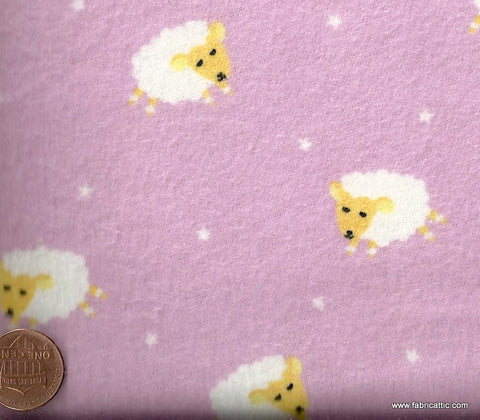 Baby Lullaby pink baby sheep flannel David fabric