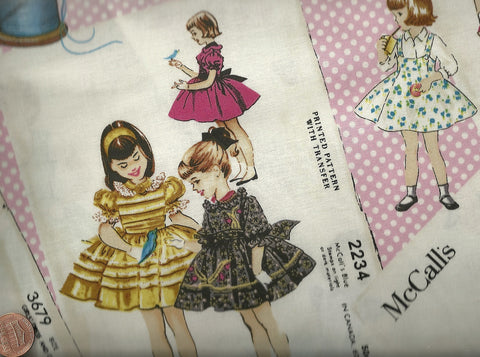 McCalls 33500 retro sewing pattern patchwork fabric Windham