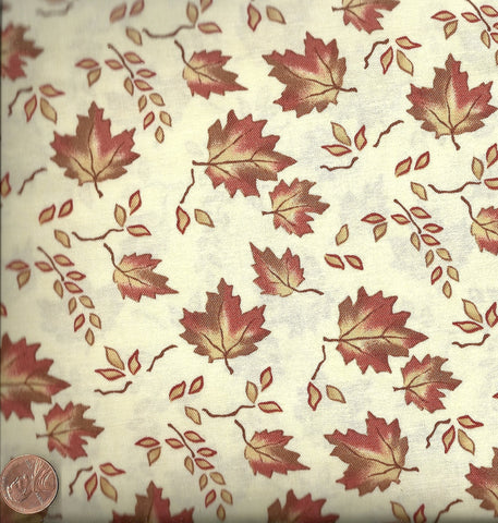 Sunrise Sunset 6453 11 Holly Taylor leaves cream Moda fabric