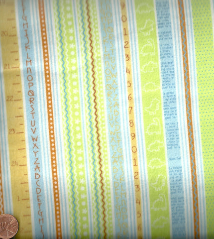Baby Saurus 106101-07 flannel pastel stripe Blend fabric
