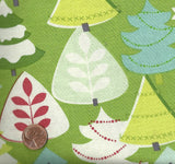 Tinsel Trees Green Christmas Blend fabric