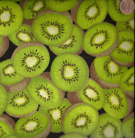Kiwi fruit kitchen food Timeless Treasures fabric