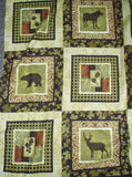 Northern Exposure 2220/99 wildlife blocks panel Benartex fabric