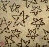 Fandango cream barbed wire stars western batik Avlyn fabric