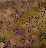 Fandango golden tan barbed wire stars western batik Avlyn fabric
