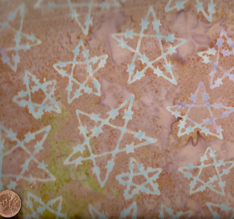Fandango western barbed wire stars light tan batiks Avlyn fabric