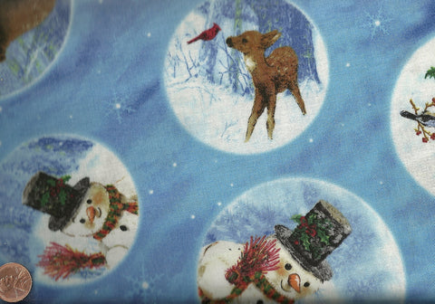 Frosty Friends snowmen winter Spectrix fabric