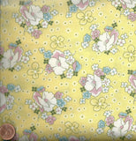 Lazy Daisy Baskets 12076-5 yellow Thirties reproduction fabric