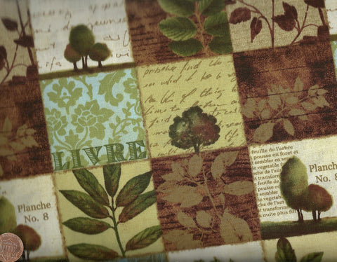 Forest Walk 27793-2 leaves sampler Wilmington fabric