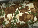 Timber Lodge 12622 265 wildlife flannel Kaufman fabric