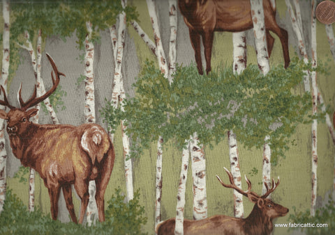 Elk Gathering 1552 wildlife Riverwoods fabric