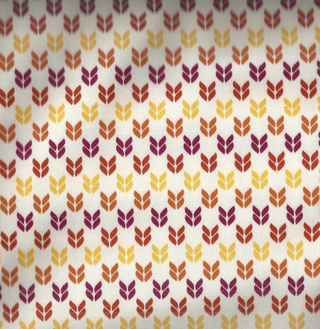 Stitch Garden yellow brown Kaurman fabric