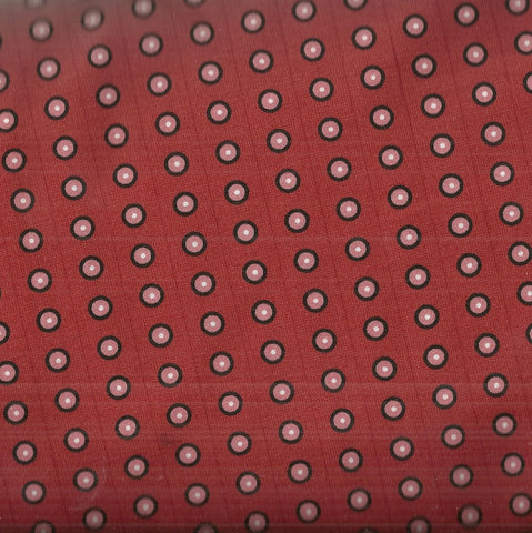 Dogma red dots circles ITB fabric