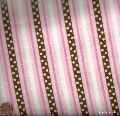 Cozy Cotton pink stripe flannel Kaufman fabric