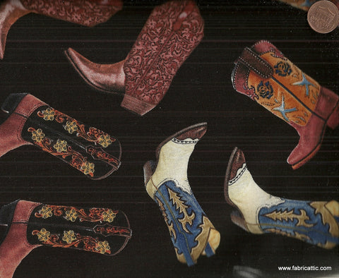 Tossed boots C1612