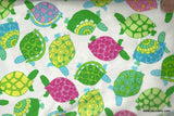 TOSSED TURTLES colorful Timeless Treasures fabric