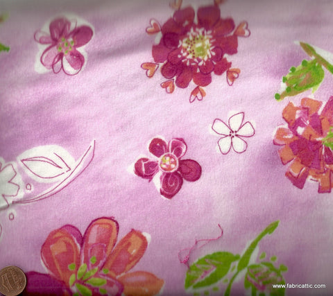Daisey Love pink flowers floral Kaufman fabric