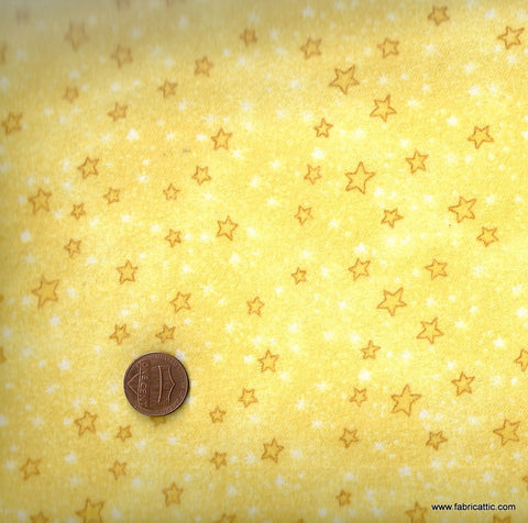 comfy 9831 yellow stars flannel Nathan fabric